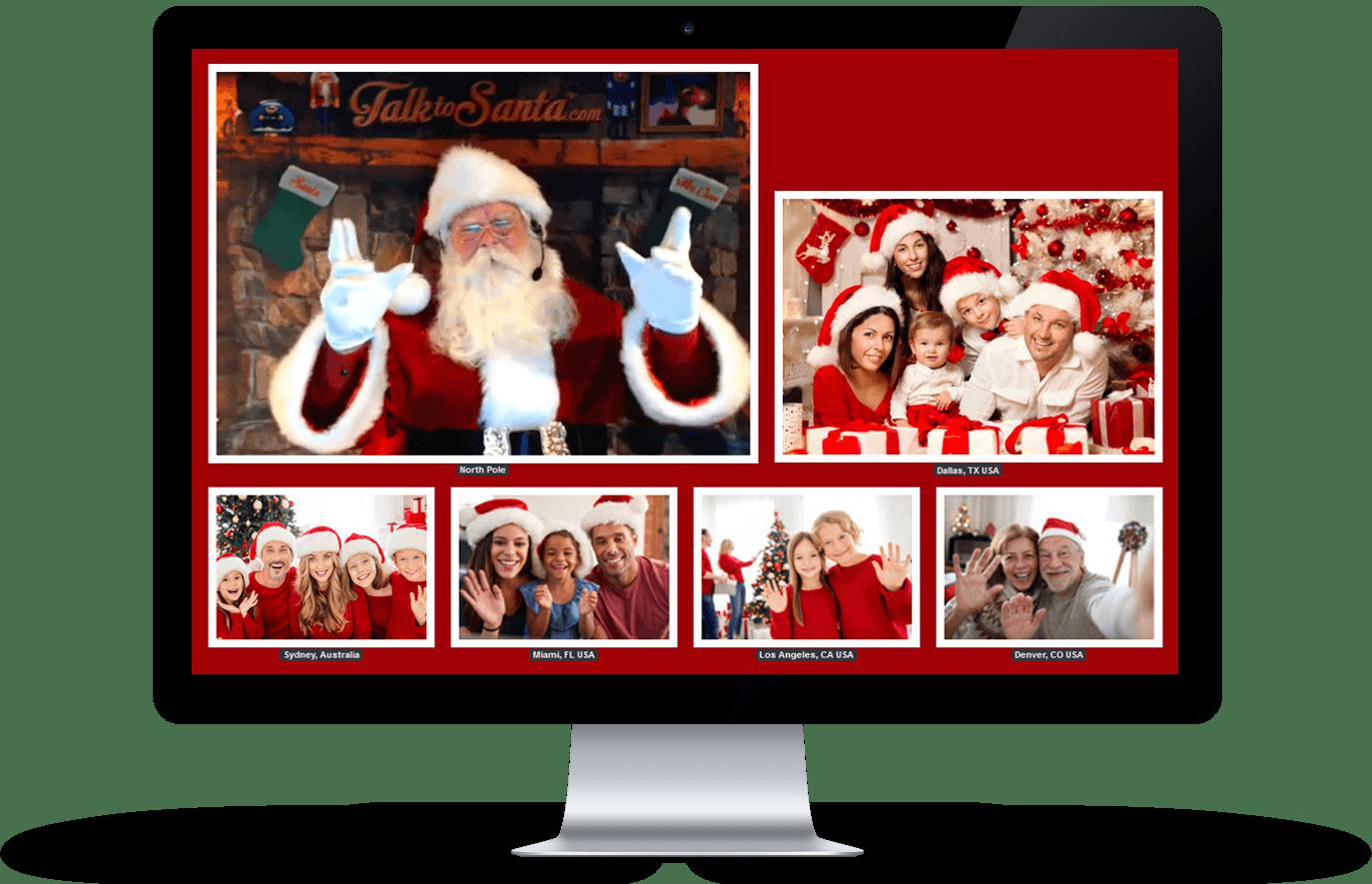 Live video call with Santa.   Talk to Santa. www.talktosanta.com