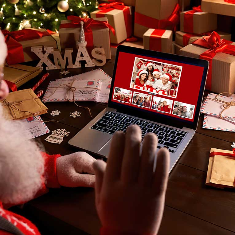 North Pole Live Video Call. VIP Packages Are Donner. Blitzen. Rudolph Package